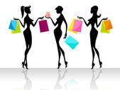 Shopping Shopper Indicates Retail Sales And Adult — Stock Photo