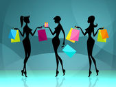 Women Shopper Means Retail Sales And Adult — Stock Photo