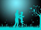 Night Love Indicates Compassionate Boyfriend And Compassion — Foto Stock
