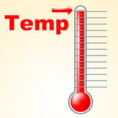 Temperature Thermometer Indicates Mercury Centigrade And Scale — Stock Photo