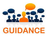 Leader Guidance Means Guide Instructions And Advice — Stock Photo
