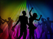 Party Disco Shows Celebrate Discotheque And Cheerful — Stock Photo