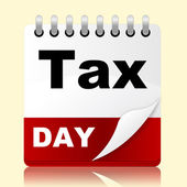 Tax Day Indicates Irs Reminder And Planner — Stok fotoğraf
