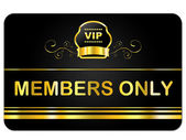 Membership Card Shows Very Important Person And Celebrity — Stock Photo