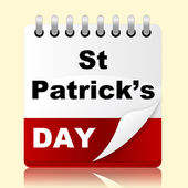 Saint Patricks Day Means Date St And Irish — Stock Photo