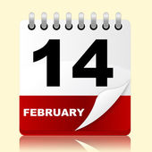 Love Calendar Means Valentines Day And 14Th — Stok fotoğraf