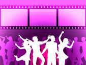 Filmstrip Disco Indicates Negative Joy And Dancing — Stock Photo