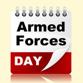 Armed Forces Day Represents Usa Calendar And Event — Stok fotoğraf