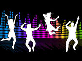 Dancing Excitement Indicates Sound Track And Soundtrack — Foto Stock