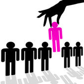 Stand Out Represents Chosen One And Contradict — Stock Photo