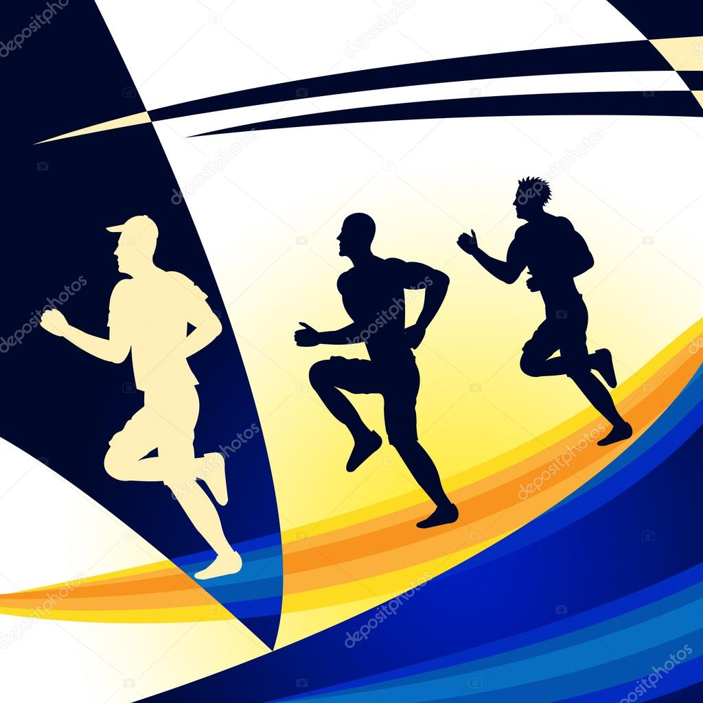 Ejercicio para correr representa ponerse en forma y hacer ejercicio foto de stock 49085821