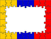 Columbia Jigsaw Means South American And Copy — Stock Photo