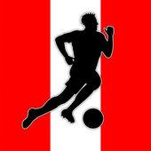 オーストリア サッカー ゲーム フラグと国立 — ストック写真