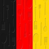 German Food Shows Germany Foodstuff And Culinary — 图库照片