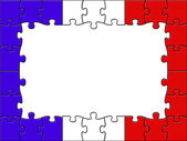 France Jigsaw Represents Blank Space And Copy-Space — Stock Photo