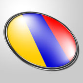 Columbian Badge Means South American And Button — Stock Photo