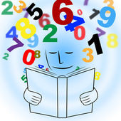 Studying Mathematics Shows Educating Learn And Schooling — Stock Photo
