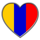 Columbia Heart Means Valentine Day And Columbian — Stock Photo
