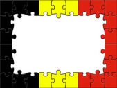 Belgium Jigsaw Means Blank Space And Copy — Stock Photo