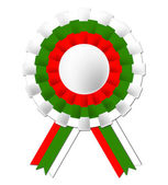 Bulgarian Rosette Indicates National Flag And Prestige — Stock Photo