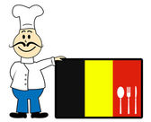 Chef Belgium Indicates Cooking In Kitchen And Catering — Stock Photo