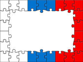 Russia Jigsaw Means Blank Space And Copyspace — Stock Photo