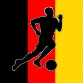 Soccer Player Indicates Germany Football And Germanic — Stock Photo