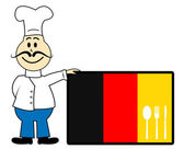 Chef Germany Represents Cooking In Kitchen And Catering — Stock Photo