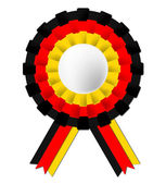 German Rosette Indicates Waving Flag And Certificate — Stock Photo