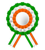 Irish Rosette Indicates National Flag And Celebration — Stock Photo