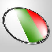 Bulgarian Badge Shows Waving Flag And Patriot — Stock Photo