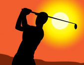 Golf Swing Represents Recreation Golfing And Exercise — Stock Photo