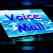 Voice Mail On Screen Shows Talk To Leave Message — Stock Photo #51617481