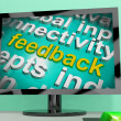 Feedback Word Cloud Screen Shows Opinion Evaluation And Surveys — Stock Photo #51617595