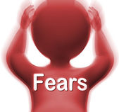 Fears Man Means Worries Anxieties And Concerns — Stock Photo