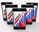 Growth Graph Means Financial Increase Or Gain — Foto Stock