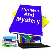 Récits à suspense et mystère livre portable montre genre fiction livres — Photo