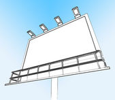 Blank Billboard Copy space Shows Advertising Space — Stock Photo
