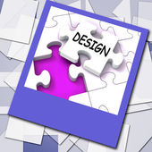 Design Photo Means Online Designing And Planning — Stock Photo