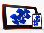 Forum Smartphone Shows Website Networking And Discussion — Stock Photo