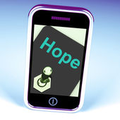 Hope Switch Phone Shows Wishing Hoping Wanting — Stockfoto