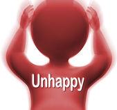 Unhappy Man Shows Sad Depressed Or Upset — Stock Photo