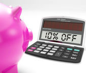 Ten Percent Off Calculator Shows Discount Reduction — Stock Photo
