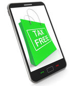 Tax Free Shopping Phone Shows No Duty Taxation — Stock Photo