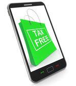 Tax Free Shopping Phone Shows No Duty Taxation — Stock Photo