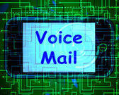 Voice Mail On Phone Shows Talk To Leave Messages — Stok fotoğraf
