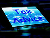 Tax Advice On Phone Shows Tax Help Online — Foto de Stock