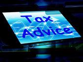 Tax Advice On Phone Shows Tax Help Online — Stockfoto