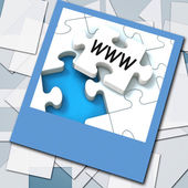 WWW Photo Means Internet Website Or Network — Stock Photo
