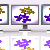 Advanced Basic Puzzle Means Programme Features And Costs — Stock Photo